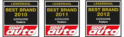 Eibach best brand awards